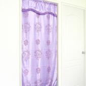 《布安於室》天空樹雙層刺繡長門簾-紫色-加贈門簾桿
