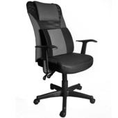 《凱堡》Yasuo舒壓腰枕辦公電腦椅(黑色)