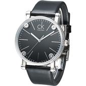 《Calvin Klein》科技透視鏡面造型時尚男錶-黑 K3B2T1C1