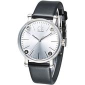 《Calvin Klein》科技透視鏡面造型時尚女錶-白 K3B231C6