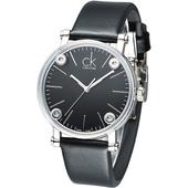 《Calvin Klein》科技透視鏡面造型時尚女錶-黑 K3B231C1