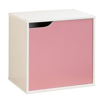 Hopma 單門櫃-八色可選(白配粉紅)