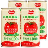 《可果美》蕃茄汁(無鹽)(190ml*4罐/組)