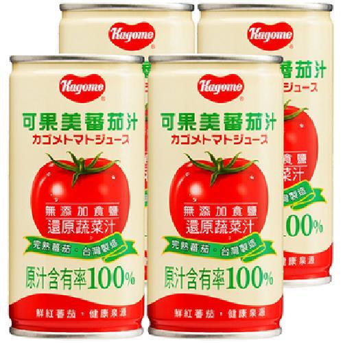 可果美 蕃茄汁(無鹽)(190ml*4罐/組)