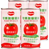 《可果美》蕃茄汁(有鹽)(190ml*4罐/組)