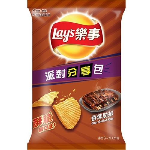 《Lay's樂事》波樂香烤肋排派對分享包(150g/包)
