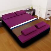《黎安思-Zean`s》頂級竹炭感溫釋壓記憶床墊(加大8cm-迷戀紫)