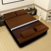 《黎安思-Zean`s》頂級竹炭感溫釋壓記憶床墊(雙人8cm-咖啡金)