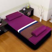 《黎安思-Zean`s》頂級竹炭感溫釋壓記憶床墊(單人8cm-迷戀紫)