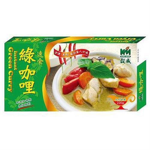 穀盛 速食綠咖哩(220g/盒)