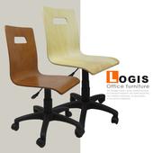 《LOGIS》般若曲木事務椅-兩色(棕色)