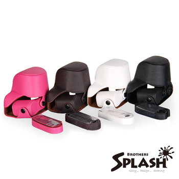 SPLASH 手工皮套 For SONY A5000/NEX-3/N 自動變焦鏡(兩件式)(黑)