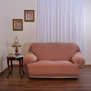 歐卓拉 千鳥紋彈性沙發便利套1+2+3人座(紅)