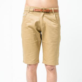 FATAN 皮革造型皮帶紳士短褲-共二色(卡其32)