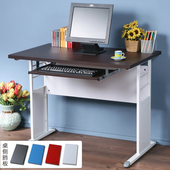 《Homelike》巧思辦公桌 亮白系列-胡桃加厚桌面100cm(附鍵盤架)(純白色)