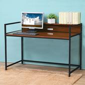 《C&B》歐斯庭四尺升降電腦工作書桌(深木紋色)