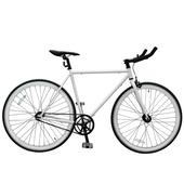 《BIKEONE》V2 EVO Fixed Gear單速車 英式時尚不敗經典款-牛角把(白色)