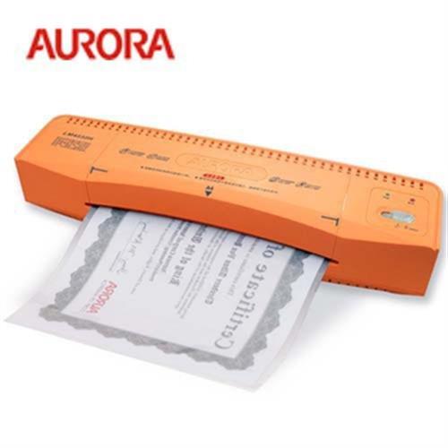 震旦 AURORA A4護貝機LM4232H(具導紙板及緊急退紙功能/橘/白色)