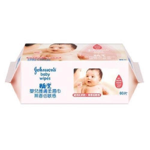 嬌生 嬰兒護膚柔濕巾-無香敏感補充(80片/包)