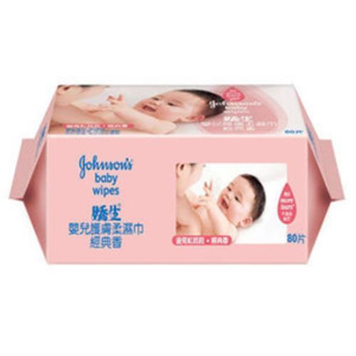 嬌生 嬰兒護膚柔濕巾-經典香補充包(80片/包)