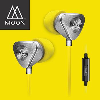 澳洲穆克斯 MOOX X9iS 入耳式線控耳機(金屬銀)