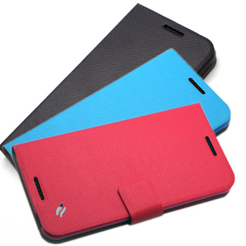 Redberry HTC Desire 816 甜漾簡約 立架式側掀皮套(蜜桃紅)