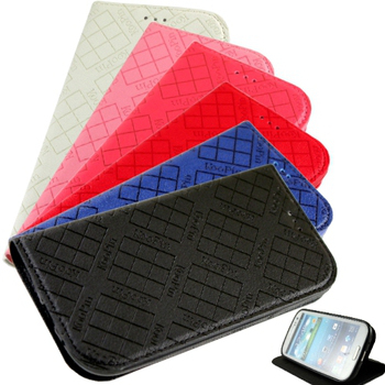 KooPin Samsung Galaxy Grand 2 (G7102) 隱磁系列 超薄可立式側掀皮套(伯爵藍)