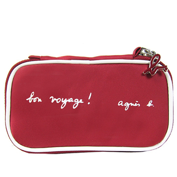 agnes b. 尼龍長形萬用包(紅)01A4048016