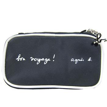 agnes b. 尼龍長形萬用包(黑)01A4048009