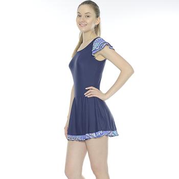 《Bich Loan》慧麗連身裙泳裝附泳帽加贈白人旅遊組13006103(M)