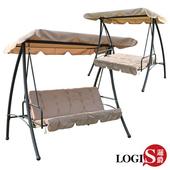 《LOGIS》吉羅列兩用鞦韆搖床 / 躺椅 /吊椅/(鞦韆卡其色)
