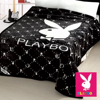 PLAYBOY 黑白格 暖冬雙面長絨厚毛毯(一入)