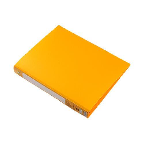 A4四孔PP D型夾 黃