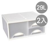 《SONA PLUS》白水單層抽屜收納櫃(三抽)(2入)