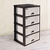 《SONA PLUS》現代四層收納置物櫃(35公升4層櫃)