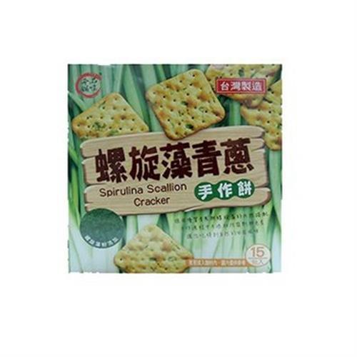 品味本舖 螺旋藻青蔥手作餅(225g/盒)
