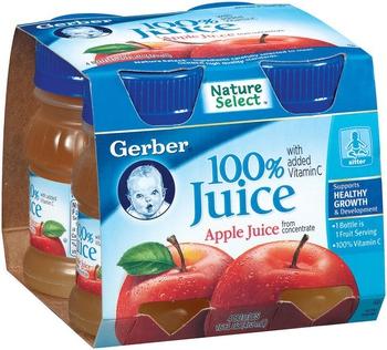 嘉寶 蘋果汁(4ozx4瓶/組)