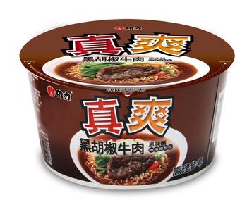 維力 真爽黑胡椒牛肉湯麵(90g×3入/組)