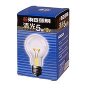 《東亞》清光燈泡-5W(TC1105.C)