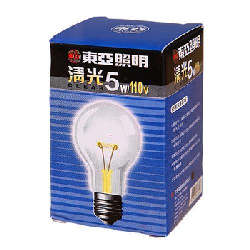 東亞 清光燈泡-5W(TC1105.C)