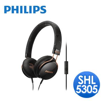 PHILIPS 飛利浦 飛利浦 SHL5305頭戴式耳機麥克風(黑)