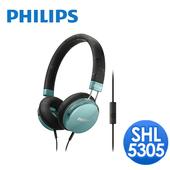 《PHILIPS 飛利浦》飛利浦 SHL5305頭戴式耳機麥克風(藍綠)