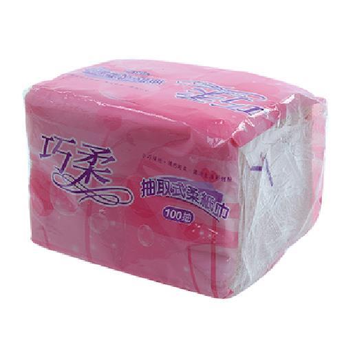 巧柔抽取柔紙巾(100抽)