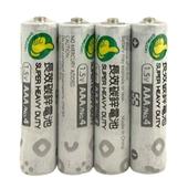 《FP》長效碳鋅 4號電池 4 入/組(AAA/R03P)