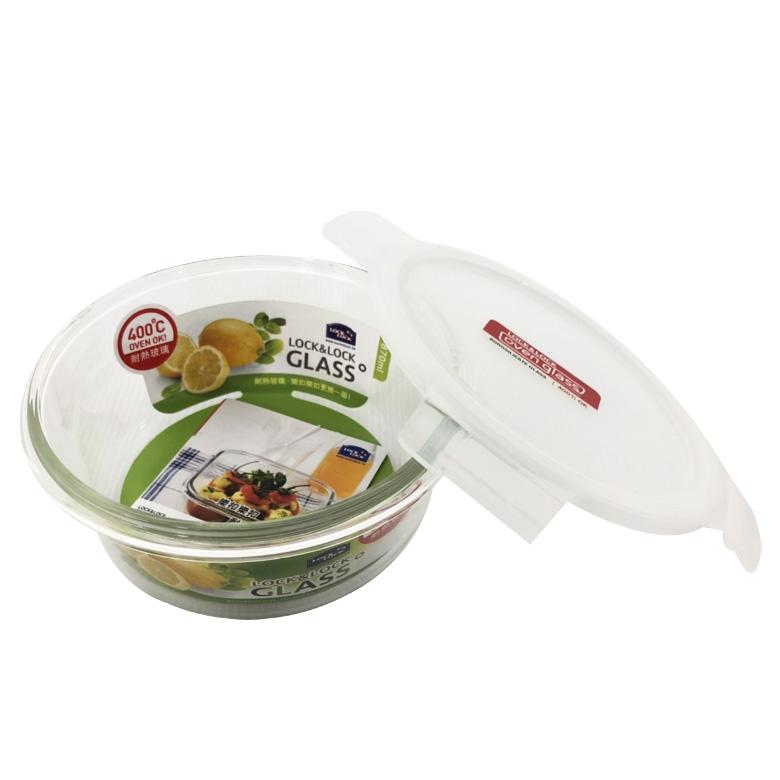 樂扣耐熱玻璃保鮮盒圓形870ML(LLG0005G)