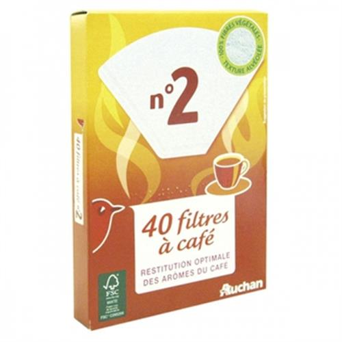 Auchan 咖啡濾紙 40入(40pcs/set)