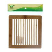 方型木條竹熱墊