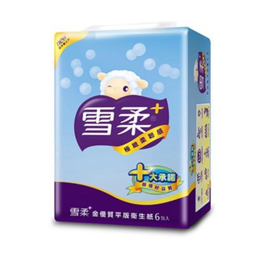 雪柔 平版衛生紙(300張*6包/串)
