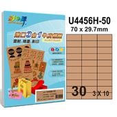 《彩之舞》30格 進口3合1牛皮標籤U4456H-50*3包