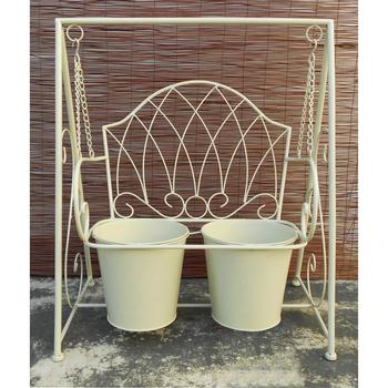 《DecoBox》陽光藝術刷白搖椅花架